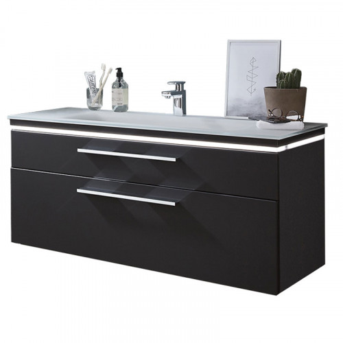 Puris Cool Line Waschtisch und Unterschrank mit Dekorplatte 120cm breit