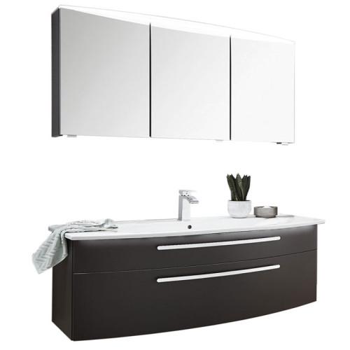 Puris Speed Badmöbel Set 19 120 cm mit Spiegelschrank mit LED Flächenleuchte