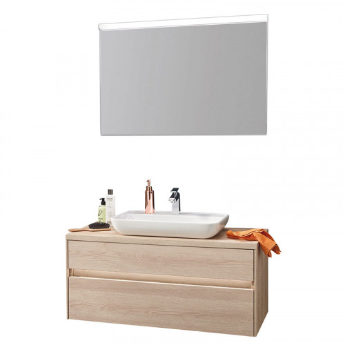 Puris Unique Badmöbel Set 1 - 100 cm mit Flächenspiegel
