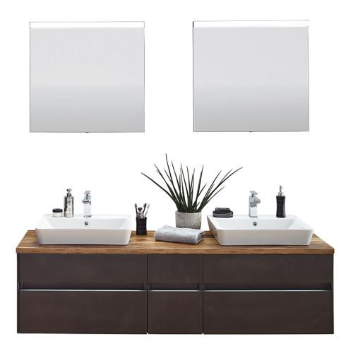 Puris Unique Badmöbel Set 4 - 170 cm mit Flächenspiegel