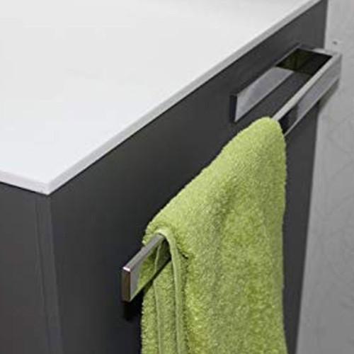 Puris Zubehör Handtuchhalter chrom, einarmig, nach vorne geöffnet
