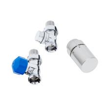 HSK Designheizkörper Anschlussarmaturen - Seitenanschluss Boden - Durchgangsvari
