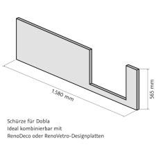 HSK Dobla Frontschürze 160 cm
