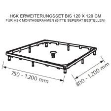 HSK Duschwanne Erweiterungsset für Montagerahmen