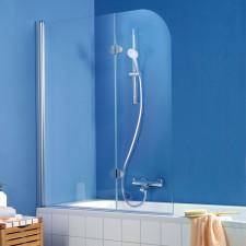 HSK Exklusiv Badewannenaufsatz - 2-teilig, 1 pendelbares 1 bewegliches Element