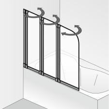 HSK Favorit Badewannenaufsatz 3 teilig