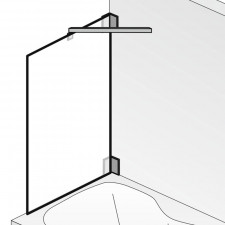 HSK K2 Badewannenaufsatz 1 Seitenwand Skizze
