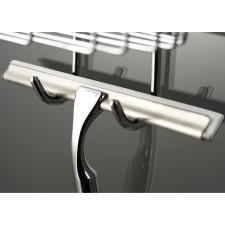 HSK Komfort und Pflege Glaswischer aus Metall inkl Wandhaken