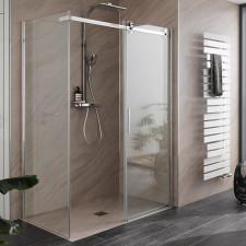 HSK Premium Softcube Duschtür mit Seitenwand - Gleittür 2-teilig mit Seitenwand