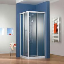 HSK Prima Dusche mit Eckeinstieg - 2 Gleittüren 2-teilig - 80 x 80 cm- B: 800 H: 1850 T: 800