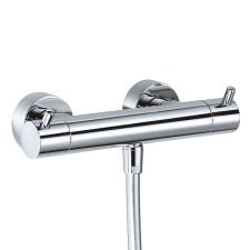 HSK Shower und Co Thermostat Aufputz / Sicherheits-Duschthermostat Rund, chrom