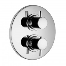 HSK Shower und Co Thermostat Unterputz - Sicherheitsthermostat Rund, 1-3 Abgänge