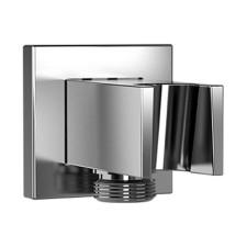 HSK Shower und Co Wandanschlussbogen Eckig mit integriertem Handbrausehalter