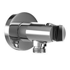 HSK Shower und Co Wandanschlussbogen Rund mit integriertem Handbrausehalter