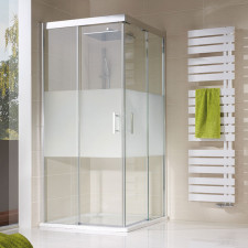 HSK Solida Dusche mit Eckeinstieg - Gleittür 2-teilig