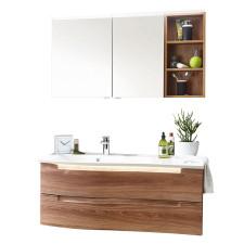 Laguna Brio Badmöbel-Set 4 121,2 cm Spiegelschrank mit Waschtisch