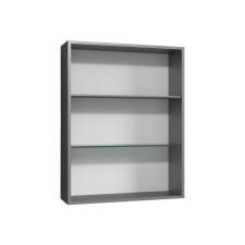 Laguna Ergänzungsschrank Regal - 50 cm, 2 beleuchtete Glasfachböden