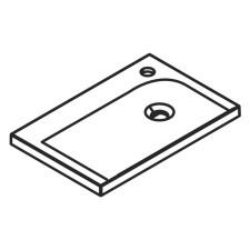 Lanzet Q4 FIT Möbelwaschtisch - 50 cm Variante rechts