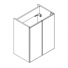 Lanzet Q4 FIT Waschtischunterschrank - 49,5 cm Skizze