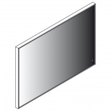 Lanzet Spiegel Flächenspiegel LZ150 - 100 cm Skizze