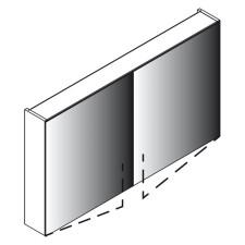 Lanzet Spiegel Spiegelschrank L0 - 120 cm