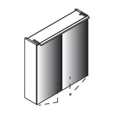Lanzet Spiegel Spiegelschrank - 60 cm