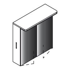 Lanzet Spiegel Spiegelschrank L8 - 60 cm, 1 LED-Paneel