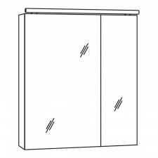 Marlin Bad 3060 Spiegelschrank 60 cm Skizze