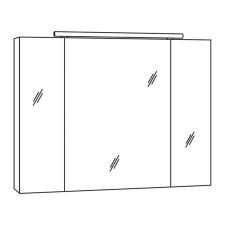 Marlin Bad 3060 Spiegelschrank 90 cm Skizze