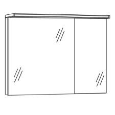 Marlin Bad 3090 Cosmo Spiegelschrank 90 cm Skizze