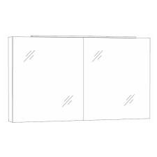 Marlin Bad 3130 - Azure Spiegelschrank 120 cm Skizze