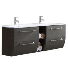 Marlin Bad 3130 - Azure Doppel-Waschtisch und Unterschrank Set 140 cm