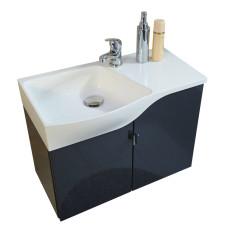 Marlin Gästebad 3010.5 Waschtisch mit Unterschrank Set 60 cm