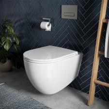 badshop.de Design WC-Set - Tiefspüler, spülrandlos, weiß Ambiente