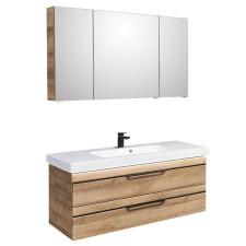 Pelipal Balto Badmöbel Set 2-7 - 123 cm, Spiegelschrank, MMWT, Fronten mit chromfarbener oder schwarzer Einlage- B: 1230 H: - T: 493