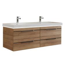 Pelipal Balto Waschtisch mit Unterschrank Set 6 - 148 cm, Doppelwaschtisch, Fronten mit chromfarbener oder schwarzer Einlage- B: 1478 H: 556 T: 508