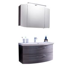 Pelipal Cassca Badmöbel Set 1-2 - 109 cm, Spiegelschrank, Glas- o. Mineralmarmor-Waschtisch, Unterschrank- B: 1090 H: - T: 505