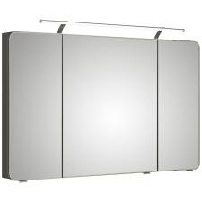 Pelipal Fokus 4005 Spiegelschrank - 120 cm, LED-Aufsatzleuchte, 3 Drehtüren mit Facette, 6 Glaseinlegeböden- B: 1200 H: 720 T: 170