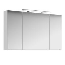 Pelipal Fokus 4010 Spiegelschrank - 120 cm, 3 Drehtüren, 6 Glaseinlegeböden- B: 1200 H: 703 T: 170