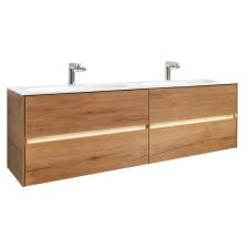Pelipal Serie 6010 Waschtisch mit Unterschrank Set 8 - 153 cm, Mineralmarmor- oder Krion-Doppelwaschtisch, Unterschrank mit 4 Auszügen- B: 1530 H: 532 T: 500