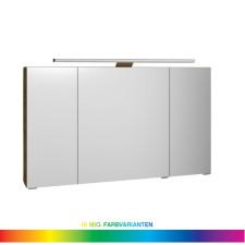 Pelipal Spiegelschränke Spiegelschrank - 120 cm, 3 Drehtüren, inkl. LEDrelax-Aufsatzleuchte, 6 Glaseinlegeböden- B: 1200 H: 703 T: 170