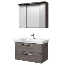 Pelipal Trentino Badmöbel Set 900-1-2-1, 92 cm, 3D Spiegelschrank mit LED-Leuchte, Keramikwaschtisch, Unterschrank- B: 920 H: - T: 480