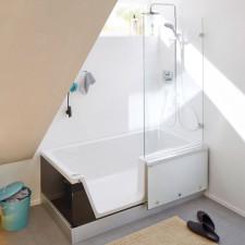 Repabad Easy-in Badewanne mit Tür - 170 links Eck rechts - Acryl, weiß
