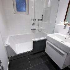 Repabad Easy-in Badewanne mit Tür - 170 links Nische - Acryl, weiß