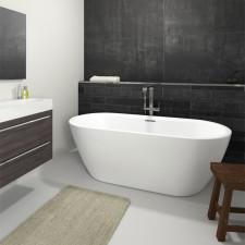 Riho Freistehende Badewanne Inspire - Acryl - 180 x 80 cm, Farbe: Weiß