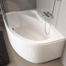 Riho Raumspar-Badewanne Lyra Rechts - Acryl - 153,5 x 100,5 cm, Weiß