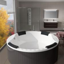 Riho Badewannen Rund-Badewanne Colorado - Acryl - 180 x 180 cm, freistehend, 440 Liter, Farbe Weiß- B: 1800 H: 530 T: 1800