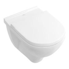 Villeroy und Boch O.novo WC-Set - 36 cm, Tiefspül-WC spülrandos, WC-Sitz mit QuickRelease und SoftClosing, Weiß Alpin- B: 360 H:  T: 560