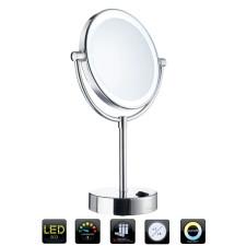 Smedbo OUTLINE Kosmetikspiegel Standmodell mit LED-Beleuchtung, 5-fache Vergrößerung