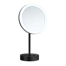 Smedbo OUTLINE Kosmetikspiegel mit LED-Beleuchtung, schwarz, 5-fache Vergrößerung